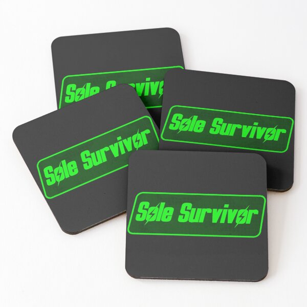 Sole Survivor Tag | Fallout 4 Protagonist Symbol Coasters (Set of 4)