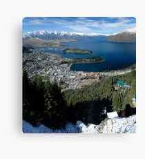 View of Queenstown Canvas Print