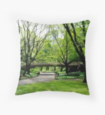 Central Park, New York in Spring Throw Pillow