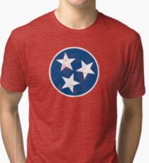 Vintage Tennessee Flag T-shirt Tri-blend T-Shirt