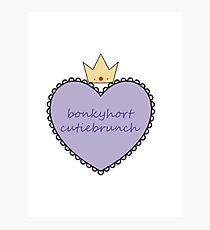 Bonkyhort Cutiebrunch Photographic Print