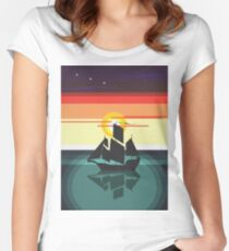 The Black Vector | Pirate Ship Women's Fitted Scoop T-Shirt