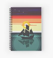 The Black Vector | Pirate Ship Spiral Notebook
