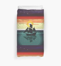 The Black Vector | Pirate Ship Duvet Cover