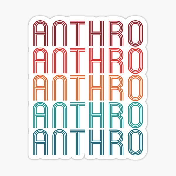 Anthro - Anthropology Retro Repeating Design Sticker