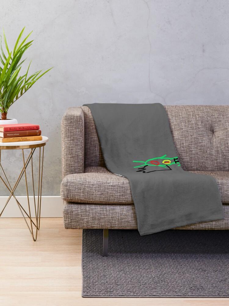 Alternate view of Plankton Magician Throw Blanket