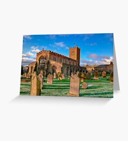 St Oswald's Church - Asgrigg  (HDR) Greeting Card