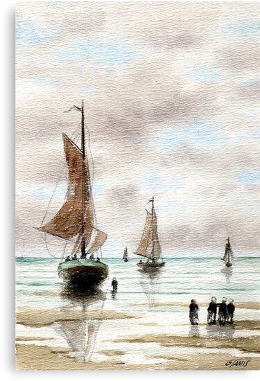 VLAARDINGEN HOLLAND ABOUT 1875 - AQUAREL by RainbowArt