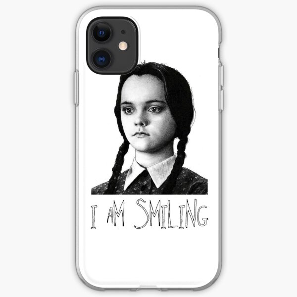 Wednesday Addams Im Smiling Halloween Goth Aesthetic  iPhone Soft Case
