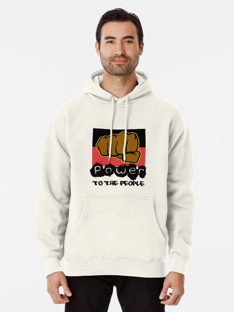 Alternate view of Power to the People [-0-] Pullover Hoodie