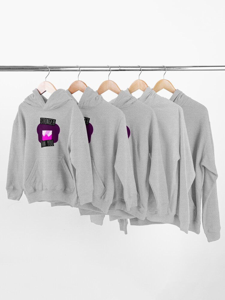 Alternate view of Stronger Than You Garnet Kids Pullover Hoodie