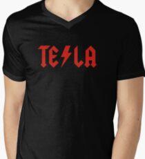 Tesla Men's V-Neck T-Shirt