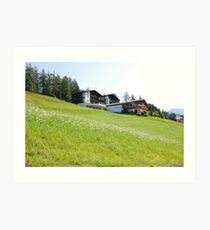 Murren summer Art Print