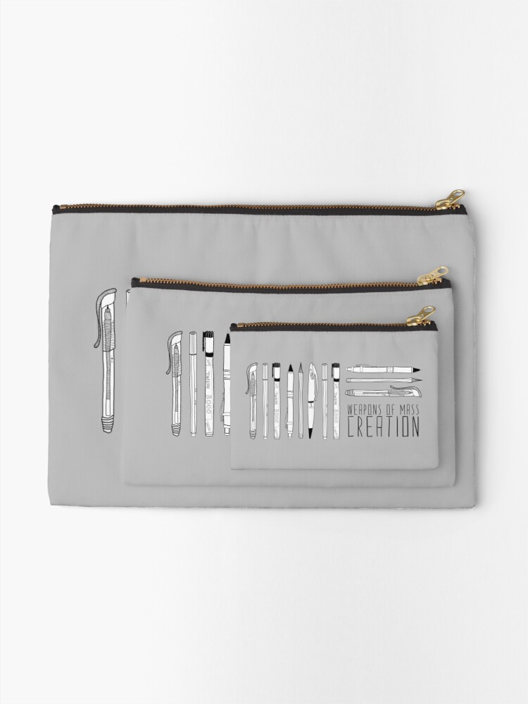 Alternate view of Weapons Of Mass Creation Zipper Pouch