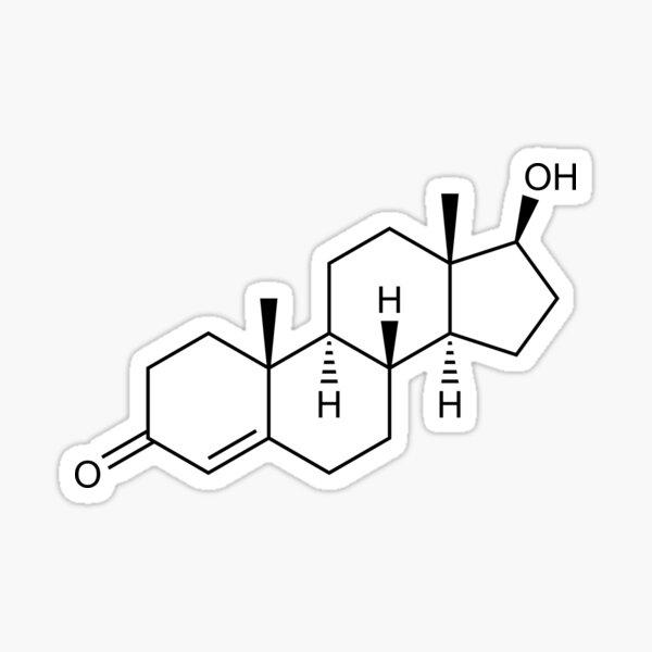 Testosterone Structural Formula Sticker