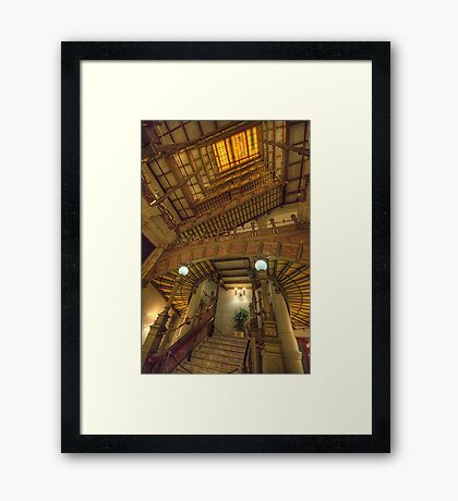 Hidden Treasure - National Mutual Building , Sydney Austtralia - The HDR Experience Framed Print