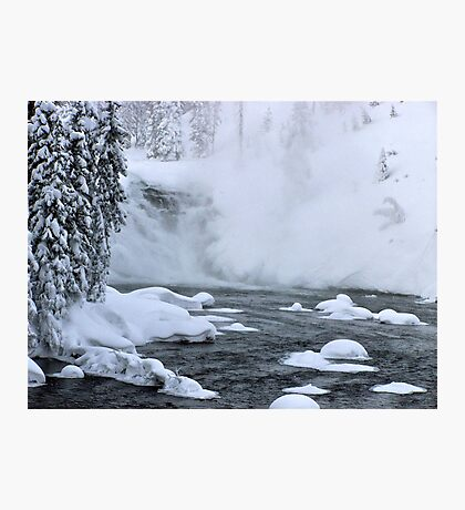 Firehole River falls Photographic Print