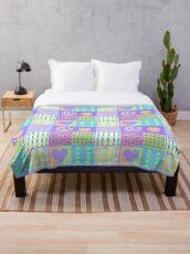 Vintage pastel baby blanket  Throw Blanket