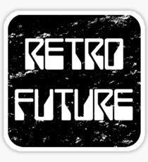 RetroFuture-Logo2-Black Sticker