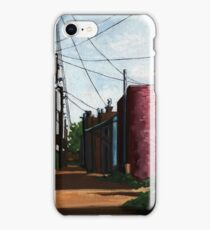 Back Alley-  city street alleyway urban art painting iPhone Case/Skin