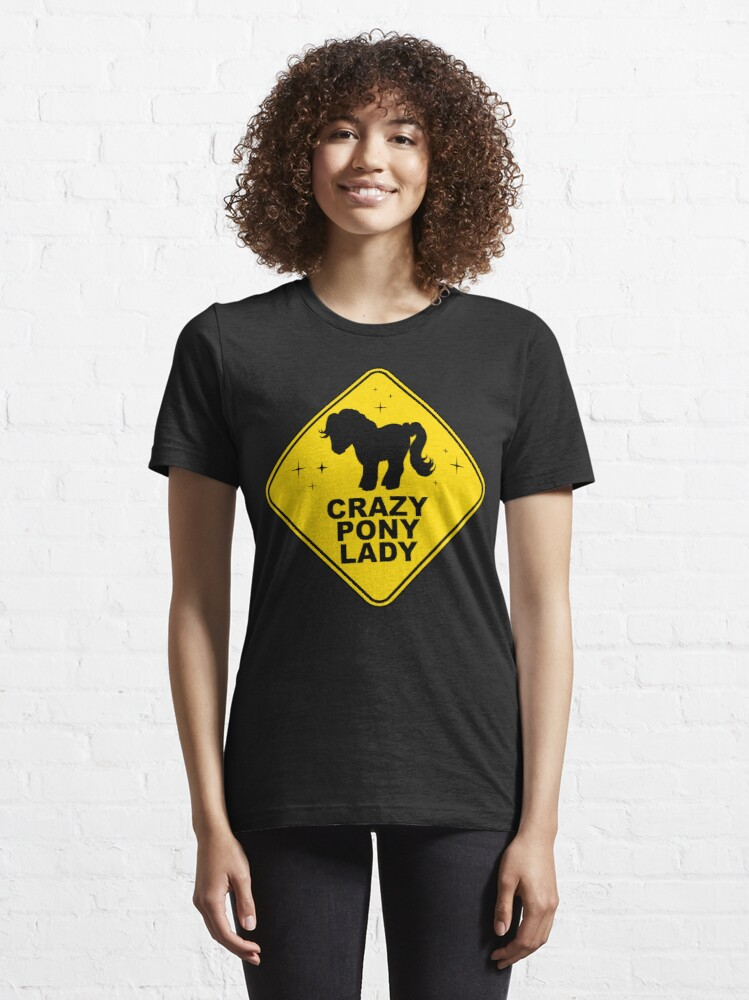 Alternate view of Warning: Crazy Pony Lady Essential T-Shirt
