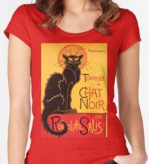 Le Chat Noir Vintage Poster Women's Fitted Scoop T-Shirt