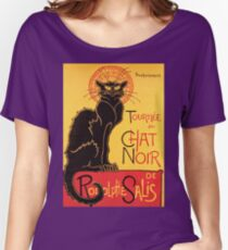 Le Chat Noir Vintage Poster Women's Relaxed Fit T-Shirt