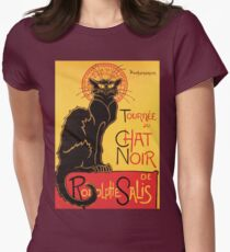 Le Chat Noir Vintage Poster Women's Fitted T-Shirt
