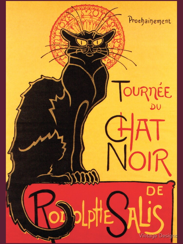 Le Chat Noir Vintage Poster by Geekimpact