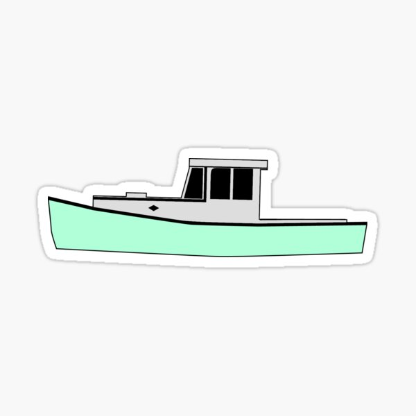 Maine Lobster Boat Sticker
