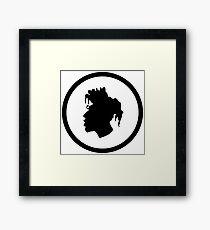 Black Head Logo Framed Print