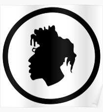 Black Head Logo Poster