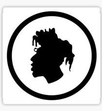 Black Head Logo Sticker