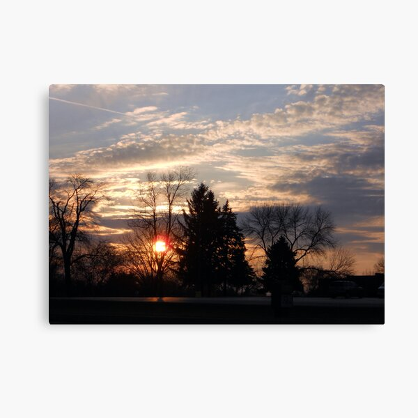 Sunset in the Suburbs Canvas Print