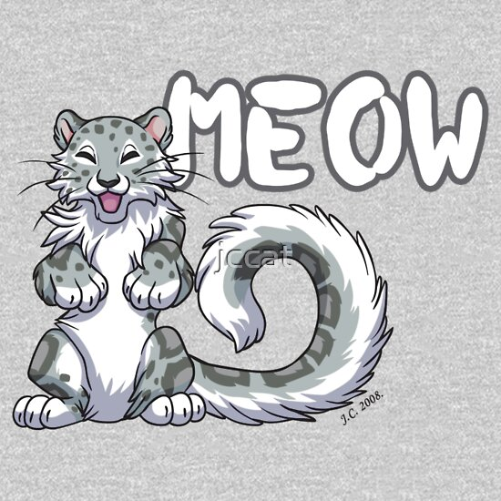 TShirtGifter presents: Snow leopard meow