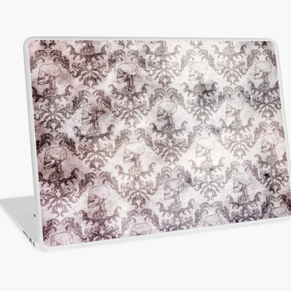 Blood stained baroque - gothic print Laptop Skin