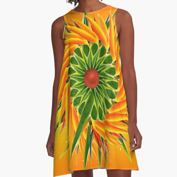 Bird of Paradise A-Line Dress