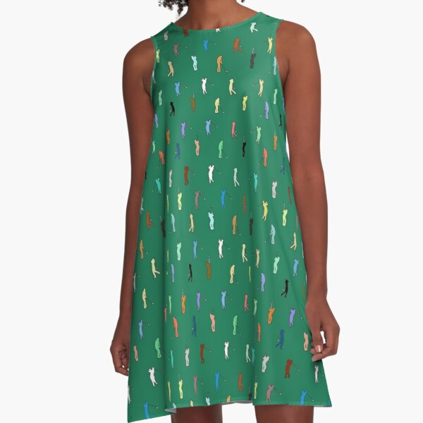 Retro Golf Pattern A-Line Dress