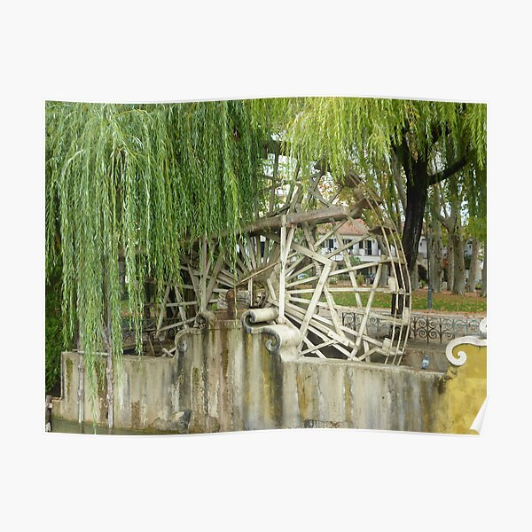 Water Wheel on river Nabiio Poster