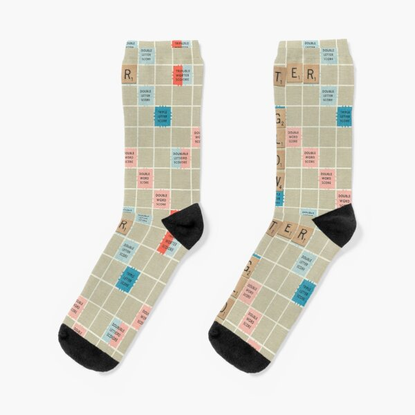 Happy 40th its only 11 in Scrabble Printed Ladies Pink Socks 40th Birthday Gift