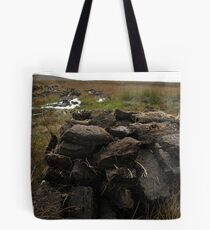 Peat stack, North Uist Tote Bag