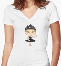 Natalie Swan Women's Fitted V-Neck T-Shirt