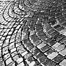 Cobblestone pavement after rain by Gabor Pozsgai