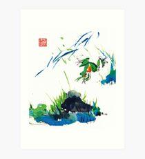 Jumping Frog Art Print