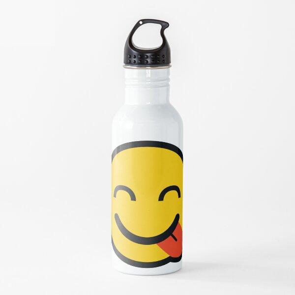 Smiley Tongue Emoji Botella de agua