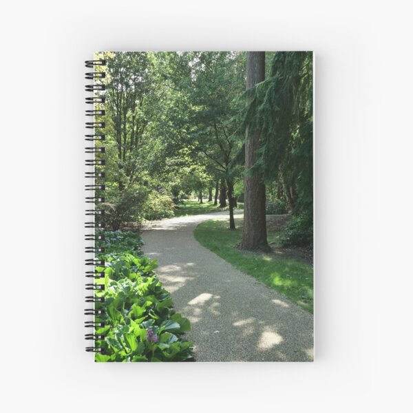Garden path looks beautiful in sunlight Spiral Notebook
