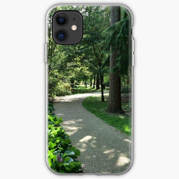 Garden path looks beautiful in sunlight iPhone Soft Case