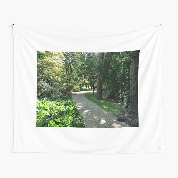 Garden path looks beautiful in sunlight Tapestry