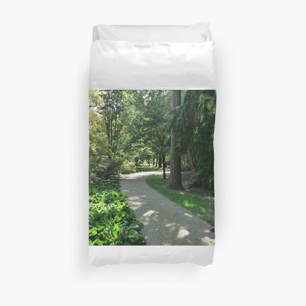 Garden path looks beautiful in sunlight Duvet Cover