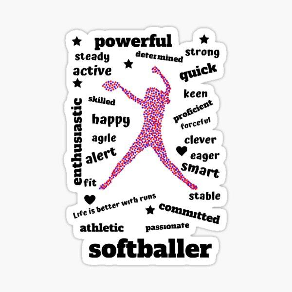 Powerful Superstar Softballer Sticker